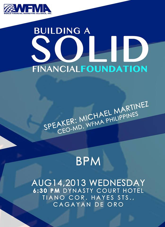 WFMA Building a Solid Financial Foundation