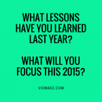 Lessons Learned in 2014 - Focus 2015