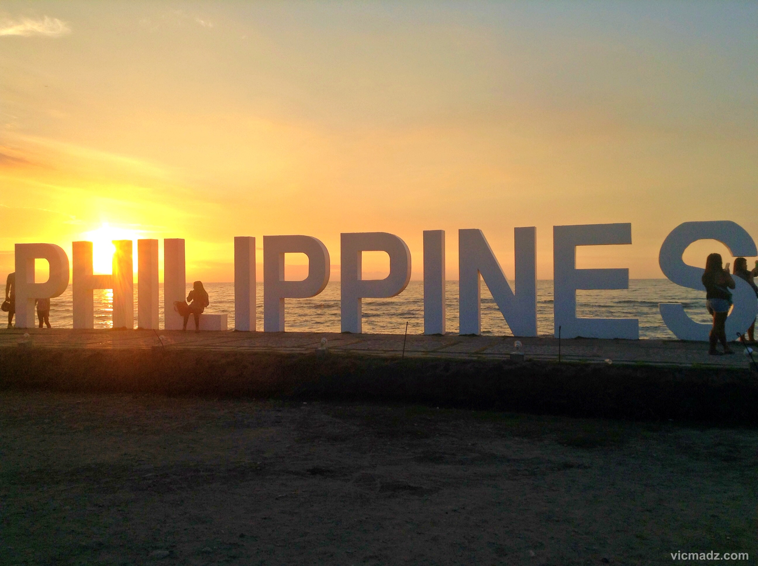 At the huge Philippines signage at Paseo de Santiago, Iligan City.